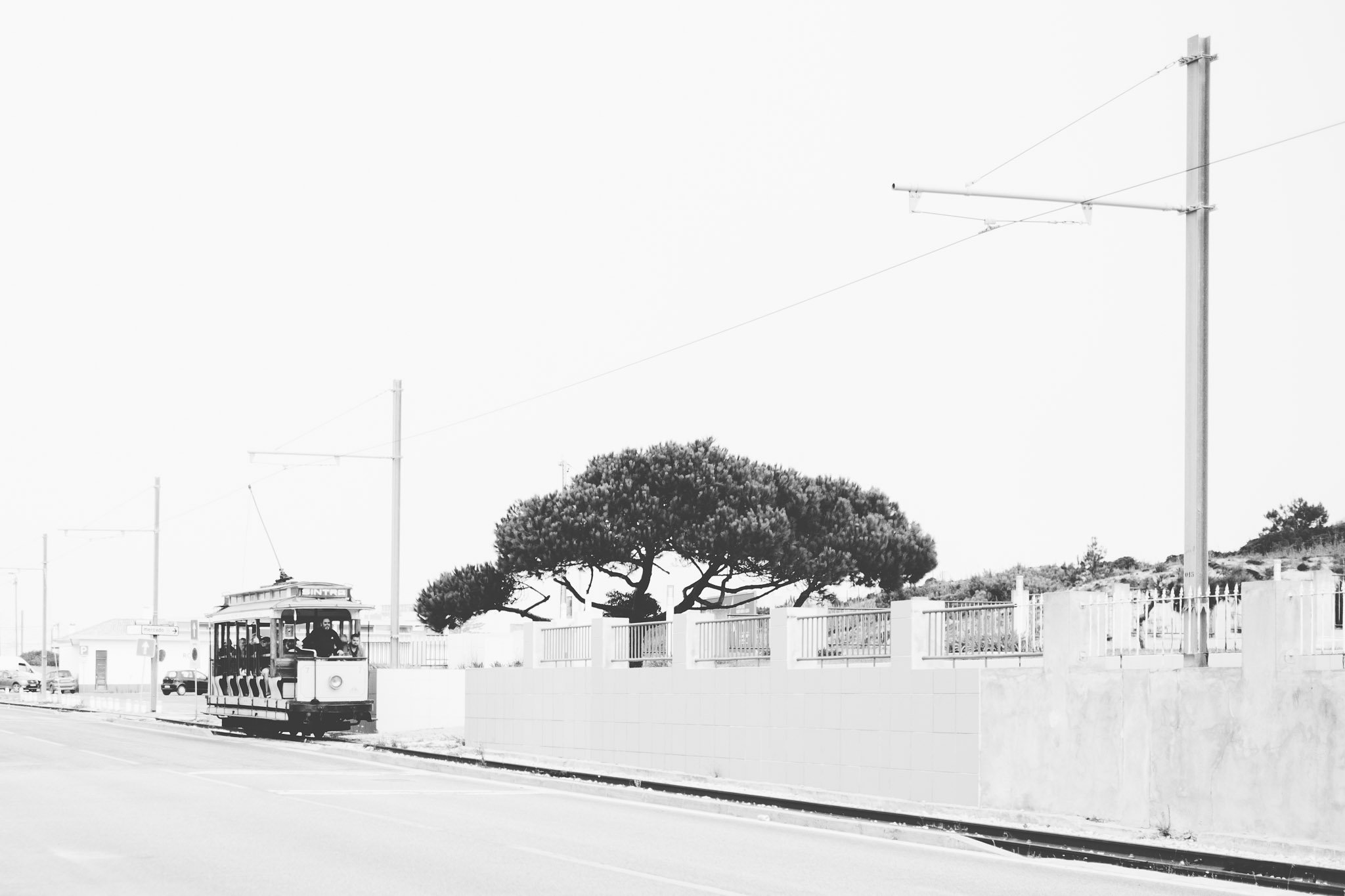 Sintra tram at Praia das Maçãs (Apple Beach) Street photography